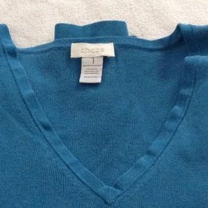 Chicos  teal top size 1